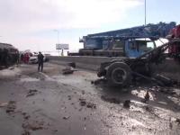 Centura Ploiestiului, blocata 2 ore dupa ce un camion incarcat cu sare s-a rasturnat. SMURD a intervenit cu un elicopter