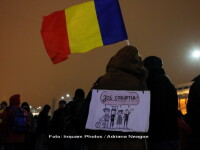 Zeci de persoane s-au adunat in Piata Victoriei, in a 18-a zi de proteste. Si la Cotroceni s-au adunat cateva zeci de oameni