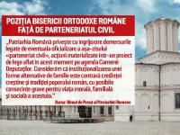 Reactia BOR fata de proiectul de lege privind parteneriatul civil: