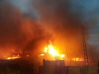 Zece locuințe din Medgidia distruse într-un incendiu. 43 de persoane rămase fără adăpost