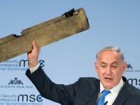 Benjamin Netanyahu a scos în timpul discursului de la Munchen o bucată dintr-o dronă iraniană