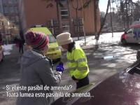 Braşovean amendat pentru că a parcat în faţa spitalului după ce a făcut o criză de inimă