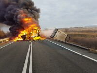 Cum s-a produs accidentul din Caraș-Severin. Șoferii TIR-urilor erau cetățeni străini