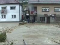 Inundații foarte mari în Bosnia, din cauza încălzirii bruște a vremii