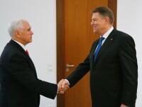 Klaus Iohannis s-a întâlnit cu vicepreşedintele Statelor Unite, Mike Pence. FOTO