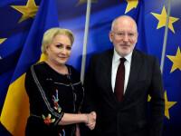 Frans Timmermans vine astăzi la București. Va avea o întrevedere cu Viorica Dăncilă