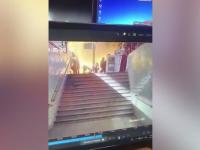 Momentul în care un tren explodează în gara din Cairo. Sunt 25 de morți. VIDEO