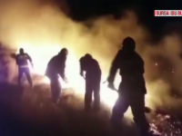 Misiune dificilă pentru pompierii din Buzău. Un incendiu a cuprins 30 de hectare de vegetație