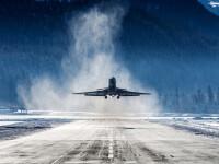 Sute de zboruri, anulate în Marea Britanie din cauza unei furtuni