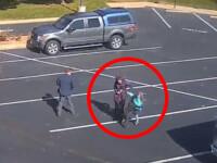VIDEO. Momentul șocant în care un câine atacă o fetiță ce ieșise cu părinții din biserică