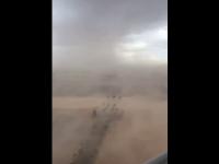 Scene ireale în Las Vegas. O furtună de nisip a acoperit tot orașul