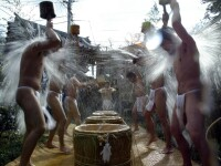 Japonezii se purifica spiritual, la -10 grade Celsius!