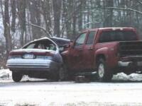 Accidente spectaculoase in SUA! 59 de masini implicate intr-un carambol!