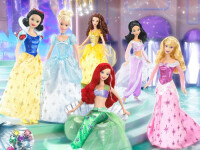 Colectie impresionanta de papusi Barbie intr-un mall din Berlin!