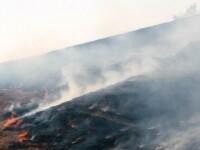 Incendiu de vegetatie in judetul Mures