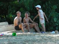 Jude Law si Sienna Miller, vacanta in Barbados!