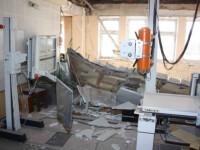 Explozie intr-un bloc din Slatina. Doi raniti si opt apartamente avariate