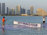 Federer vs. Nadal. Au jucat tenis pe un teren plutitor, in Golful Persic