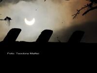 Prima eclipsa partiala de soare din 2011 a durat trei ore. VIDEO si FOTO!