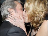 Sharon Stone si Alain Delon se saruta pasional. De bucurie ca s-au revazut