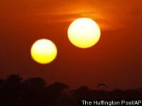 Efecte ale exploziilor solare. 2 sori au fost observati pe cerul din China