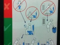 O universitate din Australia a simtit nevoia sa le invete pe studente ce sa faca in toaleta