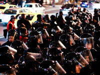 40 de persoane duse la sectiile de politie, in urma violentelor de la protestele din Capitala