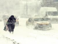 Furtuni de zapada in vestul tarii. Drumuri inchise si accidente grave produse din cauza viscolului