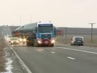 Autostrada Soarelui, blocata de transportul agabaritic a doua rezervoare GPL