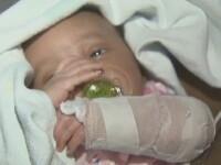 Bebelus impuscat cand inca se afla in burta mamei.