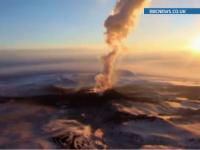 Imagini spectaculoase in Rusia. Un vulcan s-a