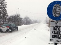 Gorj: Traficul rutier pe DN 67 C, catre statiunea Ranca, inchis din cauza viscolului