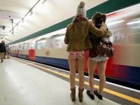 Mii de oameni din toata lumea au renuntat ieri la pantaloni, in timpul calatoriei cu metroul. FOTO