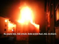 IMAGINI AMATOR. Filmul incendiului din Bistrita Nasaud. O femeie a murit dupa ce s-a aruncat de la etajul blocului in flacari