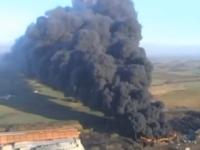 Incendiu vizibil din spatiu, in Marea Britanie. Pompierii se lupta cu flacarile de cateva zile
