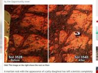 Aparitia care a creat confuzie la NASA. Ce a fotografiat robotul Opportunity pe Marte, la interval de cateva zile