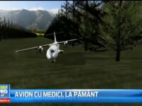 Avion cu medici la pamant. Ce s-a intamplat cu aeronava pilotata de Adrian Iovan