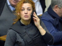 Cu vesta antiglont in Parlament. Cum a venit lidera partidului de opozitie, Patria, din Ucraina, la negocierile parlamentare