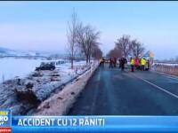 12 persoane au fost ranite intr-un accident grav, petrecut pe un drum national din judetul Mures