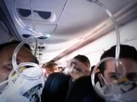 Si-a facut un selfie in avion, crezand ca va muri. Ultima imagine pe care a vrut s-o lase familiei