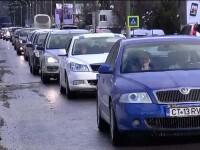 15.000 de masini au trecut prin Sinaia. A fost atat de aglomerat incat politia a permis accesul in Poiana doar cu autobuzul