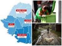Harta interactiva a SARACIEI in Romania. Regiunile unde peste jumatate dintre locuitori traiesc de pe azi pe maine