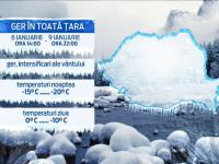 ANM anunta temperaturi de sub MINUS 25 de grade. Ce se va intampla in tara incepand de marti, ora 14:00