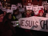 Studentii din Cluj, solidari cu francezii. Gestul simbolic pe care l-au facut la finalul unui mars silentios