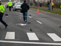 O șoferiță din Iași a spulberat o femeie pe trecerea de pietoni, a coborât din mașină să-i spună ceva victimei, apoi a plecat
