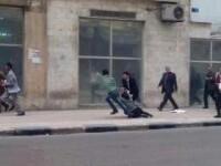 Momentul in care o protestatara a fost impuscata in cap, in Cairo de fortele de ordine, surprins de camere. VIDEO