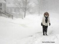 Situatie de urgenta in nord-estul SUA din cauza viscolului. Milioane de oameni sunt blocati in locuinte. IMAGINI LIVE