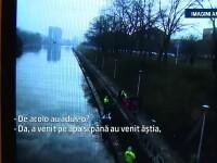 Au chemat imediat politia cand au realizat ce plutea in apele Crisului Repede. Autoritatile au deschis o ancheta