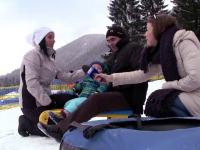 Turistii de la munte au intampinat anul 2016 pe partie, dupa masa grea de Revelion.