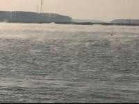 Fenomen rar pe Dunare din cauza temperaturilor mici. Explicatia specialistilor pentru imaginile care i-au fascinat pe turisti